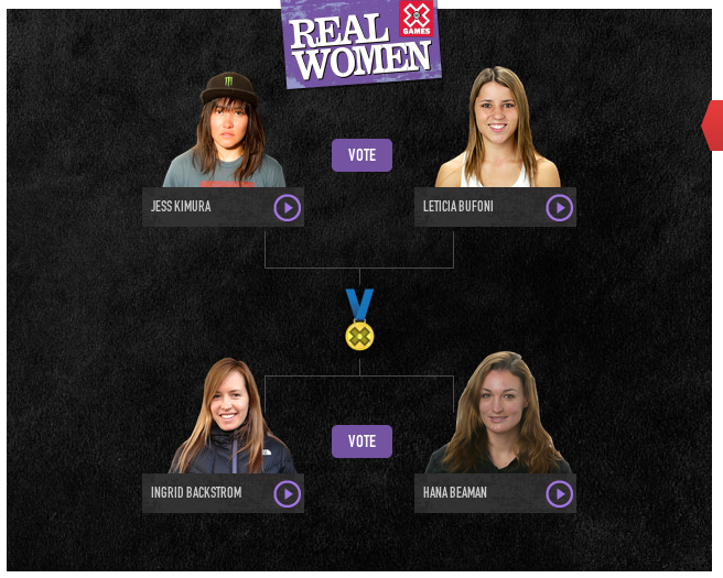 Congratulations to our girl Hana Beaman for moving into round 2 XGames Real Women! VOTE everyday let's keep this going.