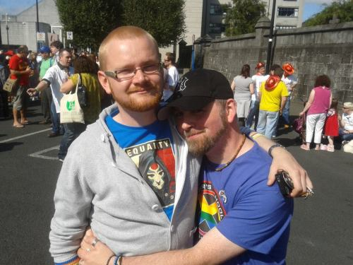 Someone posted this image of David & I at Limerick Pride last September onto facebook earlier. I don't look that small compared to him usually… do I?