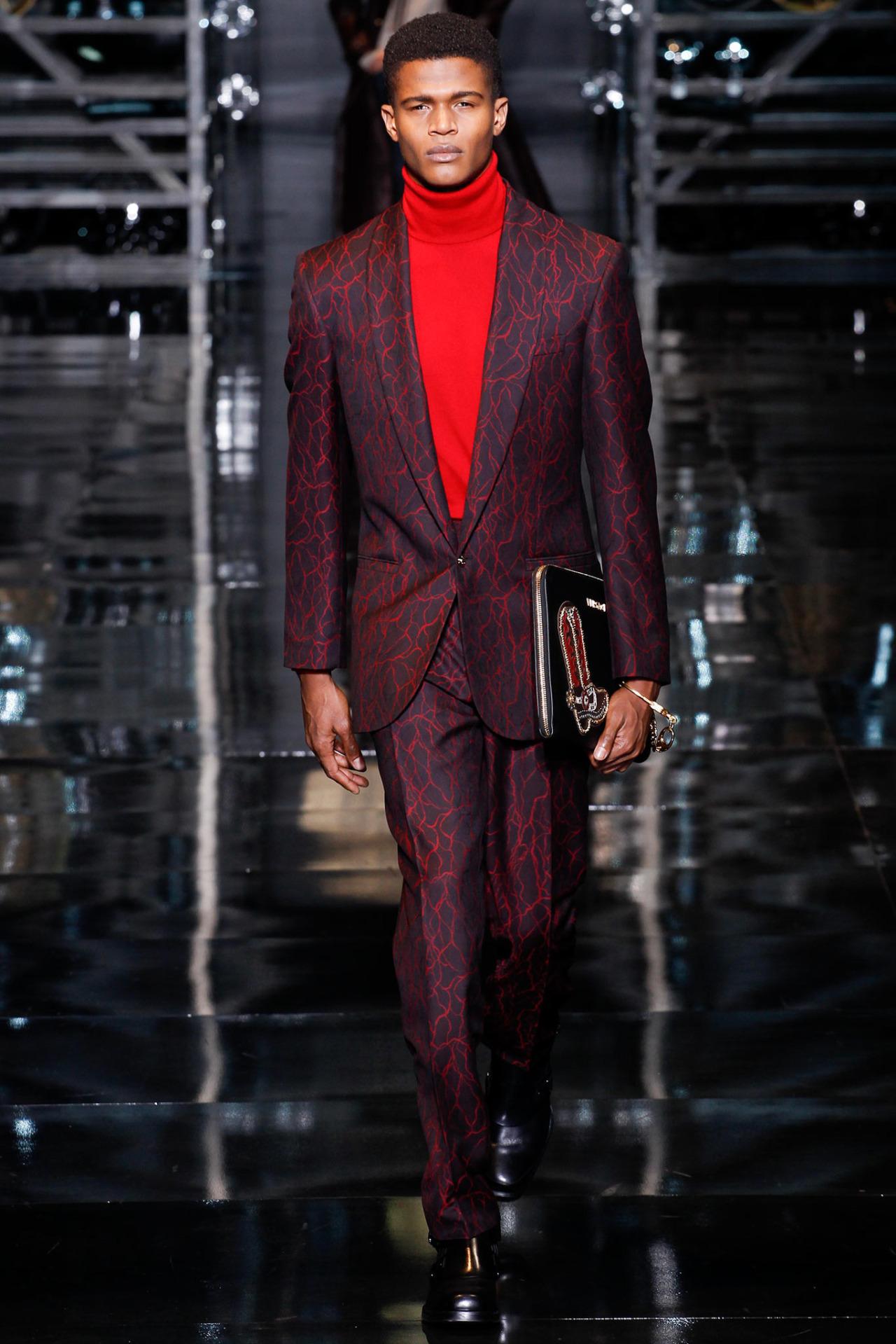 O'Shea Robertson for Versace F/W 14.15 Milan
