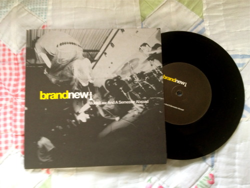 summersmilewithwinterskin:  Brand New- Jude Law and a Semester Abroad 7""