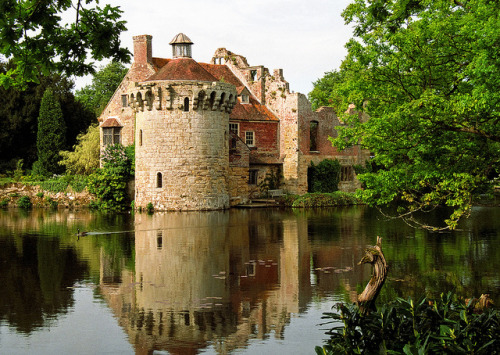 builldingash:  Scotney Castle Landscape Gardens, Kent, UK | Tranquil reflection of castle ruins in lake (14 of 16) by ukgardenphotos on Flickr.