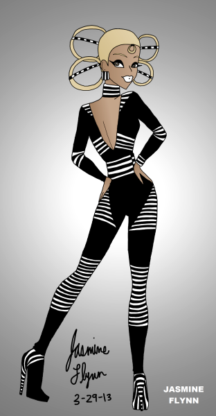 Line Body Suit. a digital drawing by me, Jasmine Flynn :)