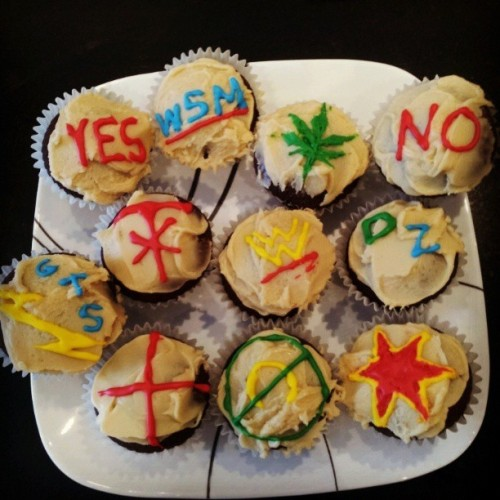 @larsadie made awesome cupcakes for #wrestlemania #feedmemore