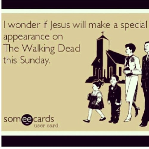derek1028:  Hahahaha! #walkingdead #jesus #zombie #sunday #easter
