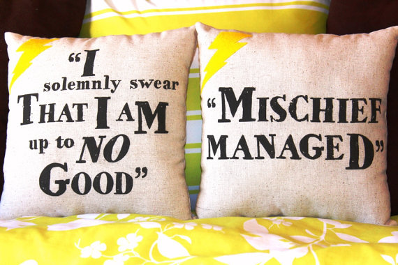 muffinseatmarissa:  You can buy these pillows at the following link https://www.etsy.com/listing/126958180/harry-potter-i-solemnly-swearmischief?ref=usr_faveitems&atr_uid=24070158