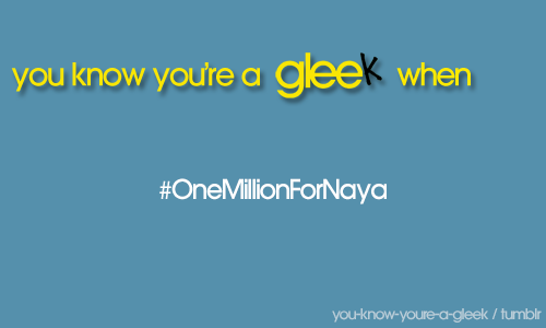 are you following Naya on twitter? she is really close to one million followers!  go follow her!