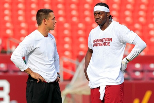 Robert Griffin was fined $10,000 for wearing an authorized t-shirt during warmups on Monday. (USATSI)