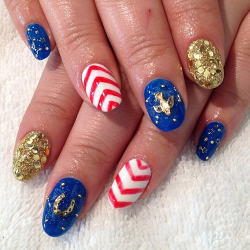America, F$@# Yeah #nailart  #lbc #presto #gel  (at Hey, Nice Nails!)