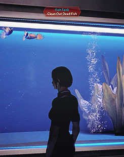 "8 OTPs: Shepard/that fucking aquarium ""Clean Out Dead Fish"""