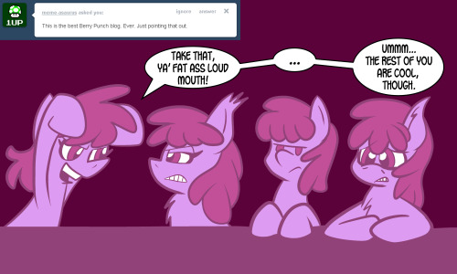 justaskberrypunch:  #24 The Loud Mouth The Soda Jerk The Perv ((Please don't take offense, guys, I love all three of your blogs))  …