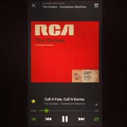 #theStrokes #NewAlbum #ComedownMachine #new #obsession #CALLitFateCALLitKARMA #awkwardly #drawn to this #song
