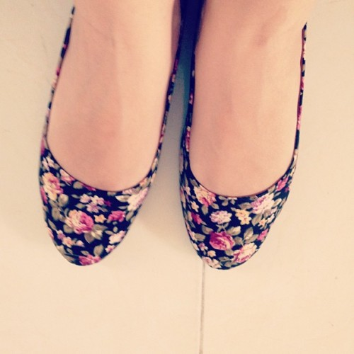 #shoes #floral #flats #pretty