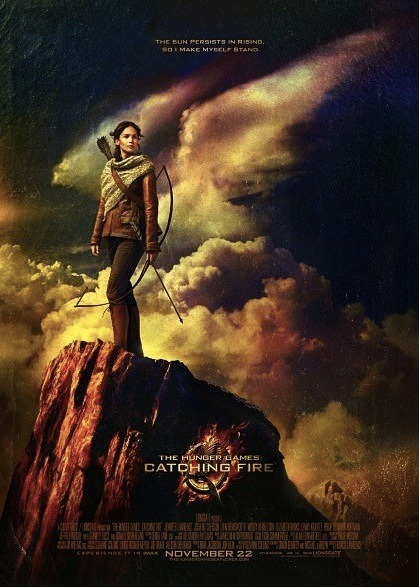 The latest poster from The Hunger Games: Catching Fire has been released! It features Katniss Everdeen who is obviously played by Jennifer Lawrence.
