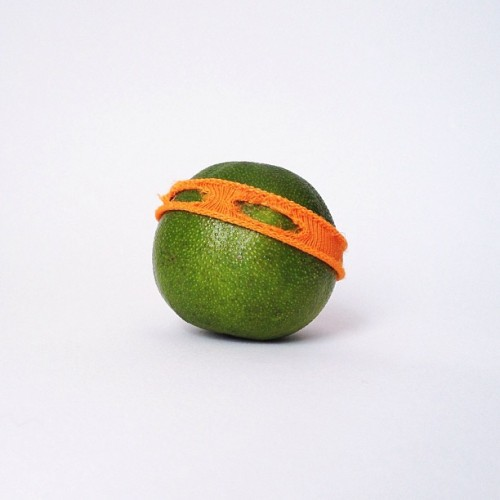 dschwen:  Lime + Modified Hair Tie = Michelangelo