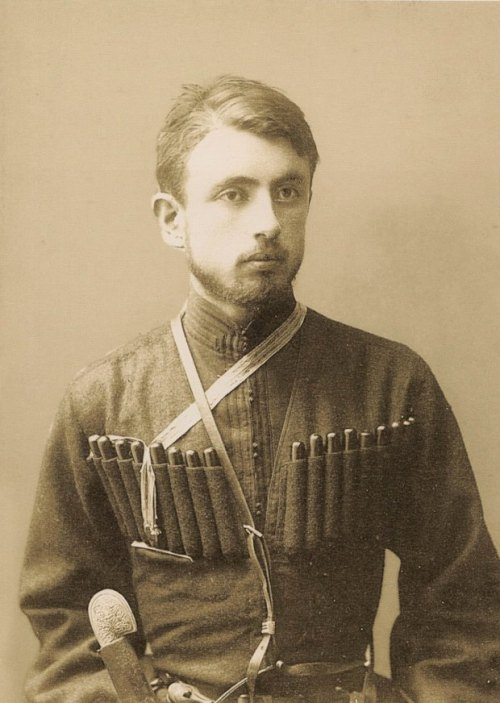 Unknown man photographed by Alexander Roinashvili.   (HT Georgia Photo Files )