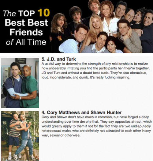 The 10 Best Best Friends of All-Time [Click for full list]