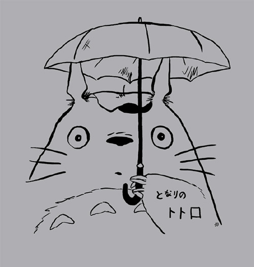 My Neighbour Totoro T-shirts!  I drew this myself. :3