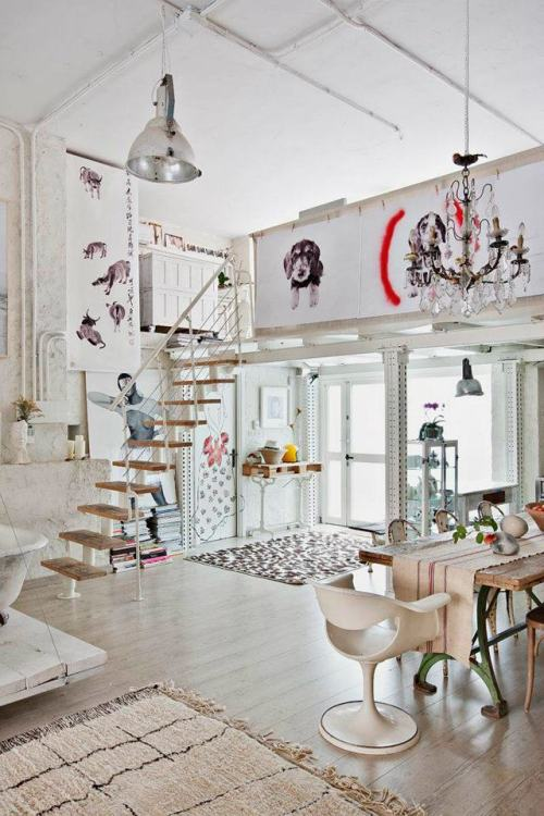 musesofdesign:  (via Magical Bohemian Style Loft in Madrid | decor8)  I want to live in a loft.