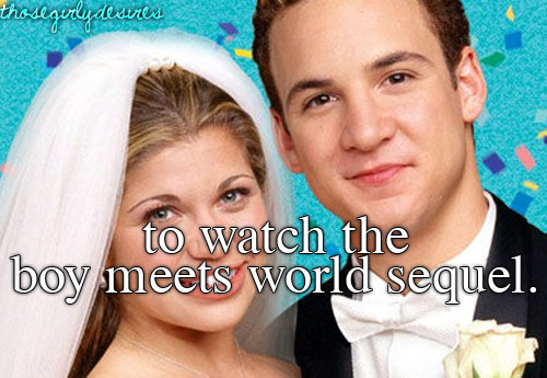 For more info on the Boy Meets World Sequel, Girl Meets World, check out: http://boymeetstumblr.tumblr.com/ :)