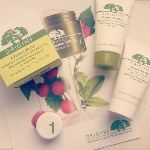 I got the Organics Perfect World moisturiser yesterday and these samples, will it be true love 😍 Now just need a daily SPF, can you recommend one?
