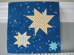 May 2013 do. Good Stitches wonky stars block for the Trust Circle by three_little_pumpkins on Flickr.