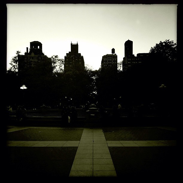 Sundown in Washington Square Park  (at Washington Square Park)