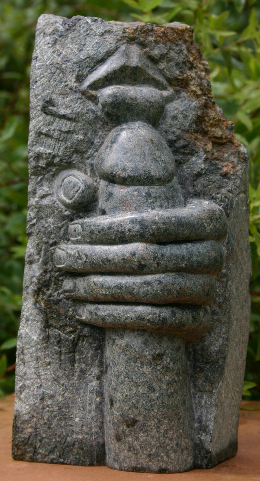 I carved this in 1996 out of a stone called Polyphant. It is about 25cm high by Paul Martin If I'm not mistaken, Paul you've submited this particular piece to be shared here several months back.. However, its such a well actualized sculpture, in a medium which truly deserves the recognition of difficulty, that I am happy to re-post. ~ Eros