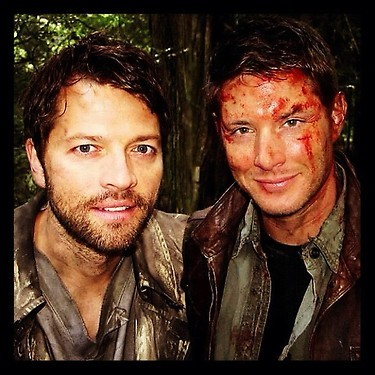 merlypops:  brokenatdestiel:  taking selfies in purgatory with the bf lol txt it <333  #selfies #love #it #boyfriend #monsters #trying #to #kill #us #lol #so # much #fun #instagram #it