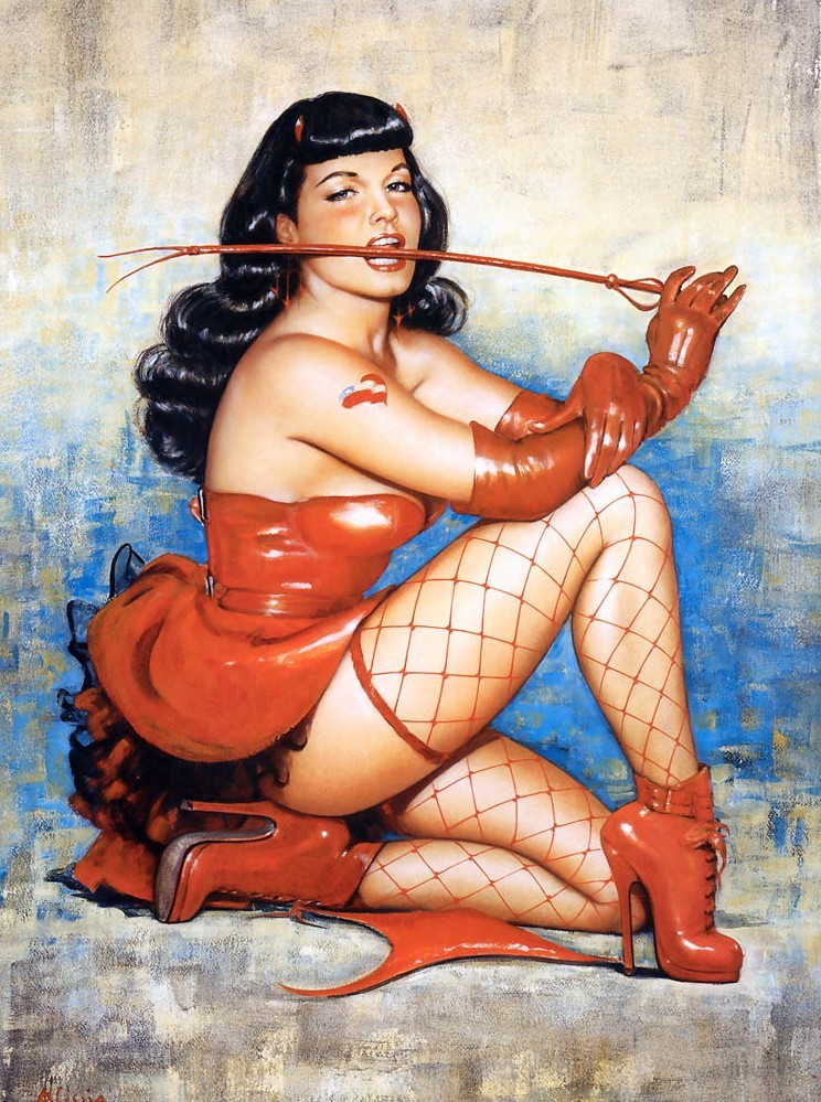 brudesworld:  Bettie Page as envisioned by Olivia De Berardinis. http://illustrateurs.blogspot.com/