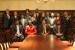 Today, the U.S.-India Joing Working Group on UN Peacekeeping Operations it meeting at the U.S. Department of State in Washington, DC. Following their morning meetings, members of the U.S. and Indian delegations took this photo in  the Department's Ralph Bunche Library.  2/13/13. State Department Photo.