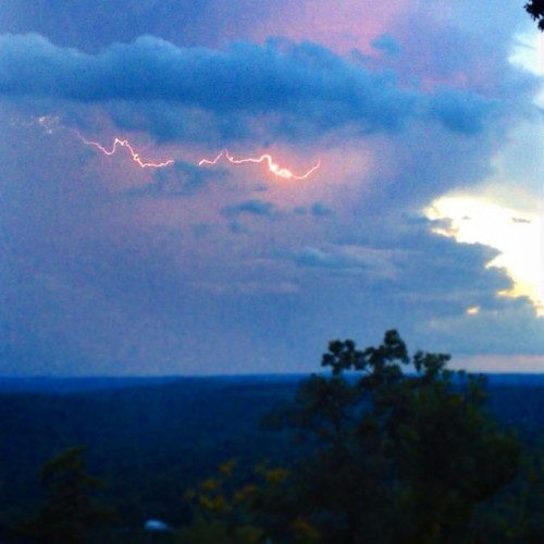 The lightning in today's sunset was good times. Picture does