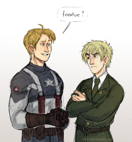 owyn-sama:  hvit-ravn:  captain america!alfred and peggy!arthur for heidi  the sound I just made oooooh myyy god