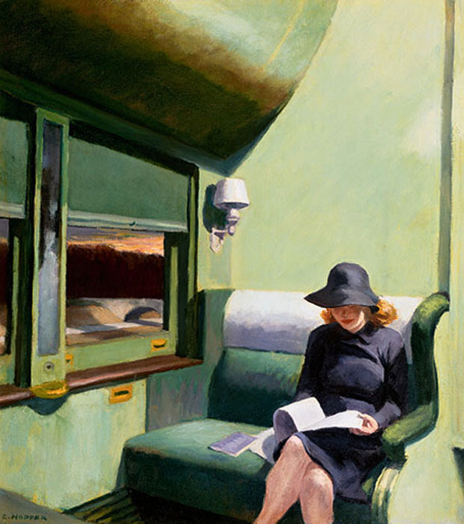 vitazur:  Edward Hopper - Compartment C, Car 293, 1938.