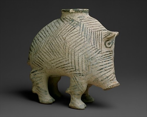 forgottenancients:  Vessel in the form of a boar…. Proto-Elamite, 3100-2900 BC, Southwestern Iran. Ceramic and paint. PIGGY!!