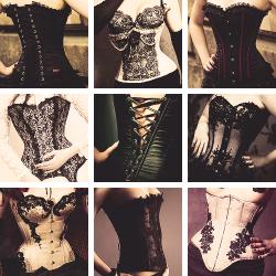 pretty fashion dark goth gothic corset corsets