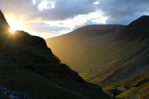 Catching a glorious sunset at Honister Pass in England's Lake District.Photo: Bryon Powell