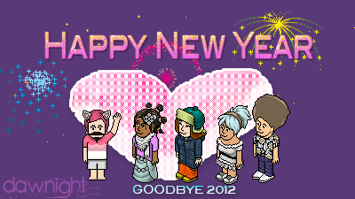zerania:  ^^ Just random photoshop by me XD for Habbo. Happy New Year Guys!