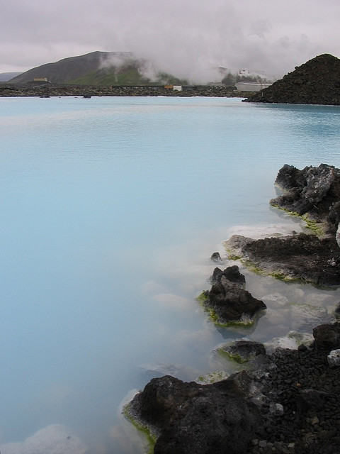 "havte:  The Blue Lagoon, Iceland by Tom Wright  ""I took this whilst on holiday in Iceland, visiting the ""blue lagoon"" near Reykjavik, a surreal lake with high mineral salt concentration (bathing is supposedly good for skin conditions). It turns out that the lake is waste hot water from the nearby geothermal power station—after the volcanically heated hot water has been used to generate electricity, it has to go somewhere, hence the lake!"" (2008)"