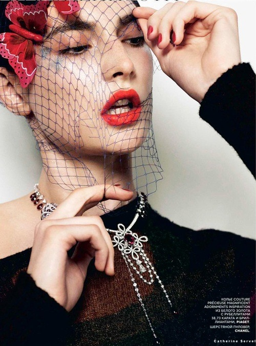 journaldelamode:  Jacquelyn Jablonski for Vogue Russia October 2012 by Catherine Servel