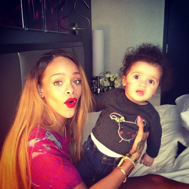 lemme-holla-at-you:  I don't know who is cuter, the child or my baby riri ?!
