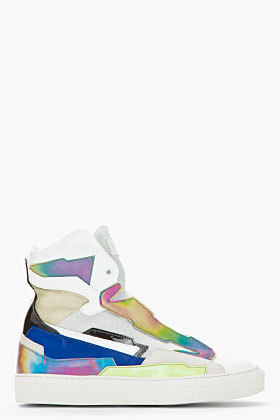 jazzyjoyce:  Raf Simons Holographic Space Sneakers. SOLD OUT.  THESE.ARE.AWESOME. src