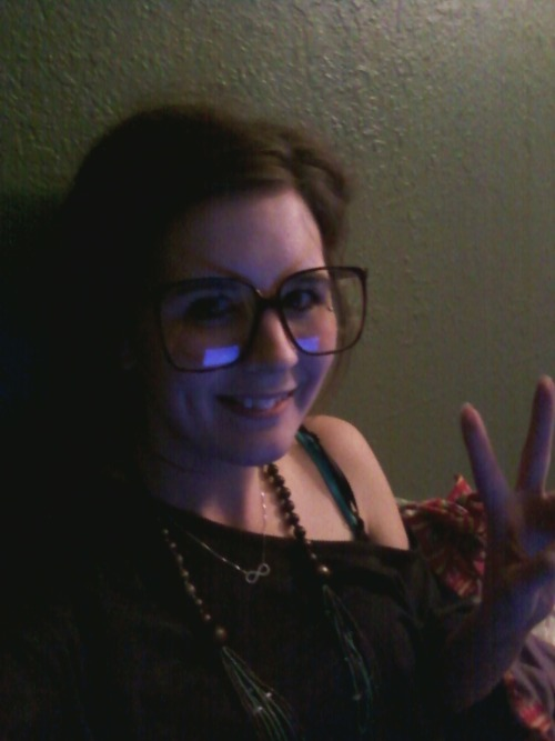 Peace, love, and light.  and awesome glasses
