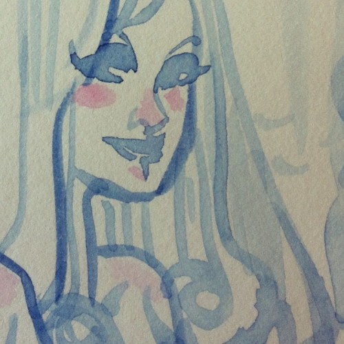 Close to the tiny face #watercolor #drawing #sketch #playful #illustration  (à My sketchbook)