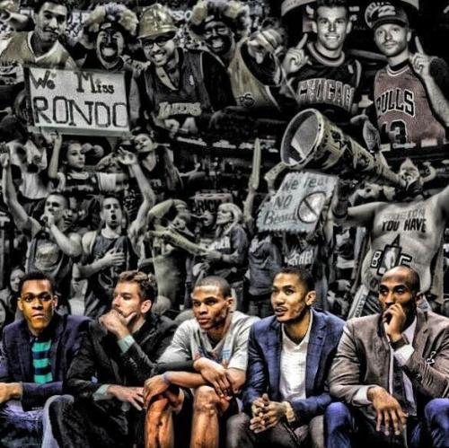 basketball-junkie:  Very cool picture. Can't wait to see them all back on the court next season.