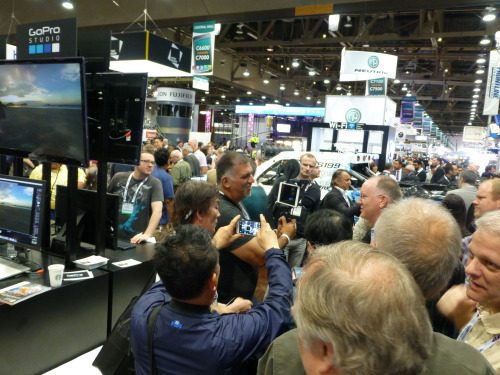 NAB 2013 - iOgrapher with John Pozadzides of GeekBeat.tv get swarmed at the GoPro booth!