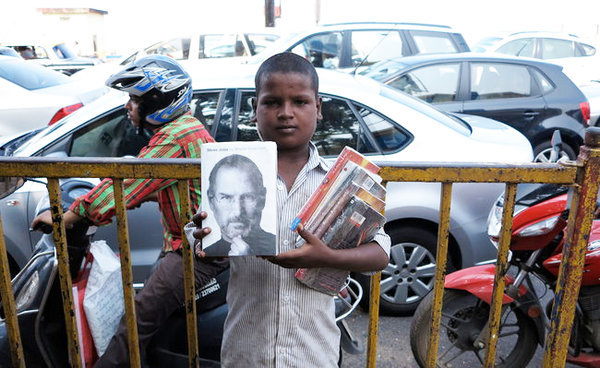 "Sonia Faleiro takes a look at the ""book boys of Mumbai"" who participate in India's quasi-illegal pirated book market. [Image via NY Times]"