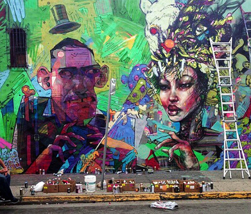 Aryz x David Choe - Mural In Los Angeles, USA