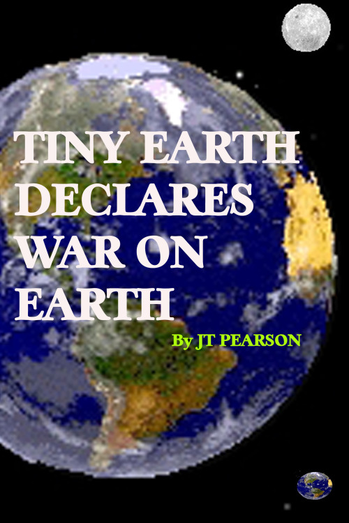 "Tiny Earth Declares War on Earth A short story by J. T. Pearson Post 1   Secretary of Defense, Lance Maynard, produced a cigar from his breast pocket and held it out. ""Do you mind, Mr. President? They're kind of like a security blanket for me in times of stress."" ""Under the circumstances I think that we can overlook it. Go ahead,"" said the president, with a slight hint of a smile that he was struggling to conceal. He didn't want to spoil the fun his staff was entitled while hazing him his first day in office. Maynard was a leftover from the departing administration that the new president, Winston Westmont Pierce, had decided to keep aboard. Maynard produced his lighter, lit the cigar, and took a couple of puffs before proceeding. ""The inhabitants of Tiny Earth don't use bullets and bombs. They've developed the technology to manipulate some of Earth's physical laws, like gravity and radio waves. They also claim that they are able to shrink whatever is in our atmosphere, reduce the mass, or compress it- we're not real sure about what they mean - although that technology hasn't actually been confirmed. To be clear, we aren't really certain how much of a danger they are to our planet but they've exhibited a significant superiority to our scientific knowledge in the past, using it more as a warning, creating nuisance situations rather than actual harm so far."" ""Nuisance situations, mmm hmm."" The president picked a sweet roll from his desk and rolled it around in his hand while he feigned a limited amount of distress. It wouldn't look very presidential not to appear brave and manly. He posed with his shoulders back. ""I see."" He tried not to look obvious as he scanned the office for hidden cameras. He inwardly chastised himself for looking too long and directly at a potted rubber tree that sat along the eastern wall. ""Only a couple dozen people in the world, dating back to 1973 when their King first contacted us, know of the existence of Tiny Earth. Since then, each president and whoever he had felt it was necessary to confide in, have been informed that Tiny Earth has been living under the stars with us, breathing the same oxygen, sharing the same sun that we see in our sky."" ""So they have a king, hmmm, interesting."" He glanced more casually at the rubber tree this time. The smell of Maynard's cigar filled the Oval Office with a combination of vanilla and cherry wood. He was getting frustrated by the trouble he was having getting the new President to believe that the message from Tiny Earth that he'd found crushed into the mahogany of his desk that morning was real and needed to be taken seriously. The warning from King Donald Johnson of Tiny Earth stated that if Big Earth did not meet Tiny Earth's demands this time then they should consider themselves at war with the planet. The King of Tiny Earth, however, hadn't yet bothered to state what those demands were. Back on Tiny Earth King Johnson and his top military experts watched the two men in the Oval Office through a visual portal, listening, and waiting for a reaction. After seeing the new president's state of doubt, King Johnson realized that an additional warning was needed, a demonstration of Tiny Earth's superior technology. The king directed his top general to increase the gravitational pull on the president's coffee mug until it started trembling, then shaking more violently, then the area of the desk around the mug started cracking until the mug collapsed through the corner of his desk, and then through the floor, and then through the floor below, and so on, until the mug was out of sight, well below the White House. The president stood frozen staring at the gaping hole left in the floor. Winston had loved that coffee mug even though he'd only had it for a day, a gift from the First Lady, Jenny (nicknamed Gentlebird for her generous contributions of time and money to a multitude of charities). She had presented it to Winston when he won the election with the phrase HAVE A PRESIDENTIAL DAY inscribed in bold red caps on the glossy exterior. She had been up in the air as whether to destroy the mug or give it to her gardener if her husband had lost the election. She just hated waste. The breakfast pastry slipped from the president's hand back to his desk with a squishy PLOP. ""How the hell did you just do that, Maynard?"" The president peered down the hole and then ran his hands above the new opening, searching for invisible wires. He looked over at the rubber tree. ""How'd you guys do that?"" He walked over and searched the small tree and then the pot frantically. He turned and looked angrily at Maynard. ""What the hell is going on?"" ""I'm sorry, Mr. President. This is always very difficult for the incoming leader."" ""Maynard, come on! What the hell? You're not serious."" ""I'm very sorry, Mr. President."" The president ravaged the room looking for hidden cameras, upturning furniture and knocking paintings from the walls, while Maynard watched on patiently. The Color drained from the president's face as he realized that he wasn't being put on. He took a deep breath before bending forward and rubbing his stomach. ""This is real?"" ""I'm afraid so."" ""I've got an ulcer that acts up sometimes, Maynard. Go on with what you've been saying. You've got my full attention now."" He remained bent toward the floor. ""Do you need anything, Mr. President? Should I call for someone?"" ""I need you to continue, Maynard. Are we in danger as you speak? Are they about to crush us like an ant in one of their tiny hands?"" ""I don't believe it to be the case. And besides, an ant would never fit in one of their hands. An ant is much bigger than their entire planet."" The exiting president was of another party and had decided to go against the tradition of informing the new leader of the free world about our planet's ongoing struggle with their microscopic nemesis. The president straightened up. ""Let us be clear. Everything that you've been describing, about a teeny angry planet, is real?"" Maynard nodded. ""Damn that Holcomb to the deepest ring of hell! He never said a word about a technologically advanced tiny planet threatening us with war! He just waltzed right out of here and went on his merry way! That's why the parties need to work together! Because of situations like this!"" ""I understand your anger, Mr. President."" ""I would've told him about Tiny Earth. That would only have been the sporting thing to do."" ""Perhaps."" ""Perhaps?"" The president grabbed the roll that he'd dropped on his desk earlier that morning and slammed it into the waste basket. THUNK! ""What can you expect from a republican?"" He paced the room. Post 2 available here Guest Post by J. T. Pearson"