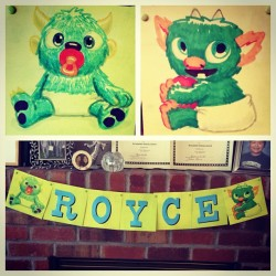 Royce's baby shower sign