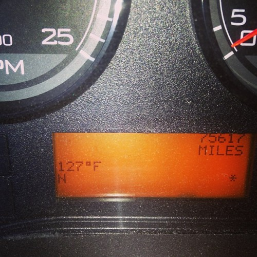 My truck has got to be lying to me about this outside temp…. But this is a BRAND NEW TRUCK! (at Gateway Travel Plaza)